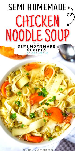 Need a fast and easy home cooked meal using pantry ingredients? Have no fear, 30 Minute Pantry Chicken Noodle Soup is here!