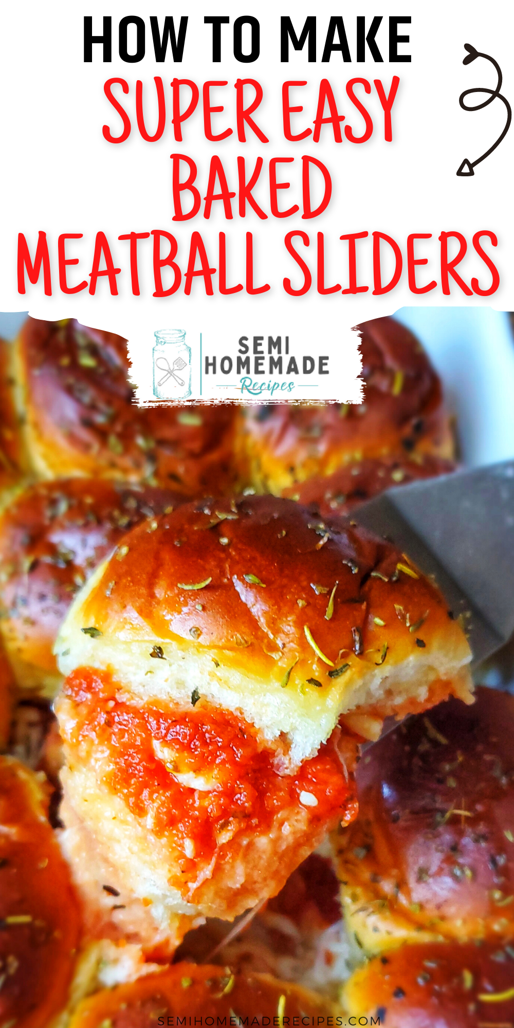 These Super Easy Baked Meatball Sliders are made with store bought meatballs, sauce, cheese and tasty Hawaiian rolls! Great for an easy lunch or easy dinner! These would be perfect for a weeknight dinner or a fast weekend lunch! Also great for game day and parties!