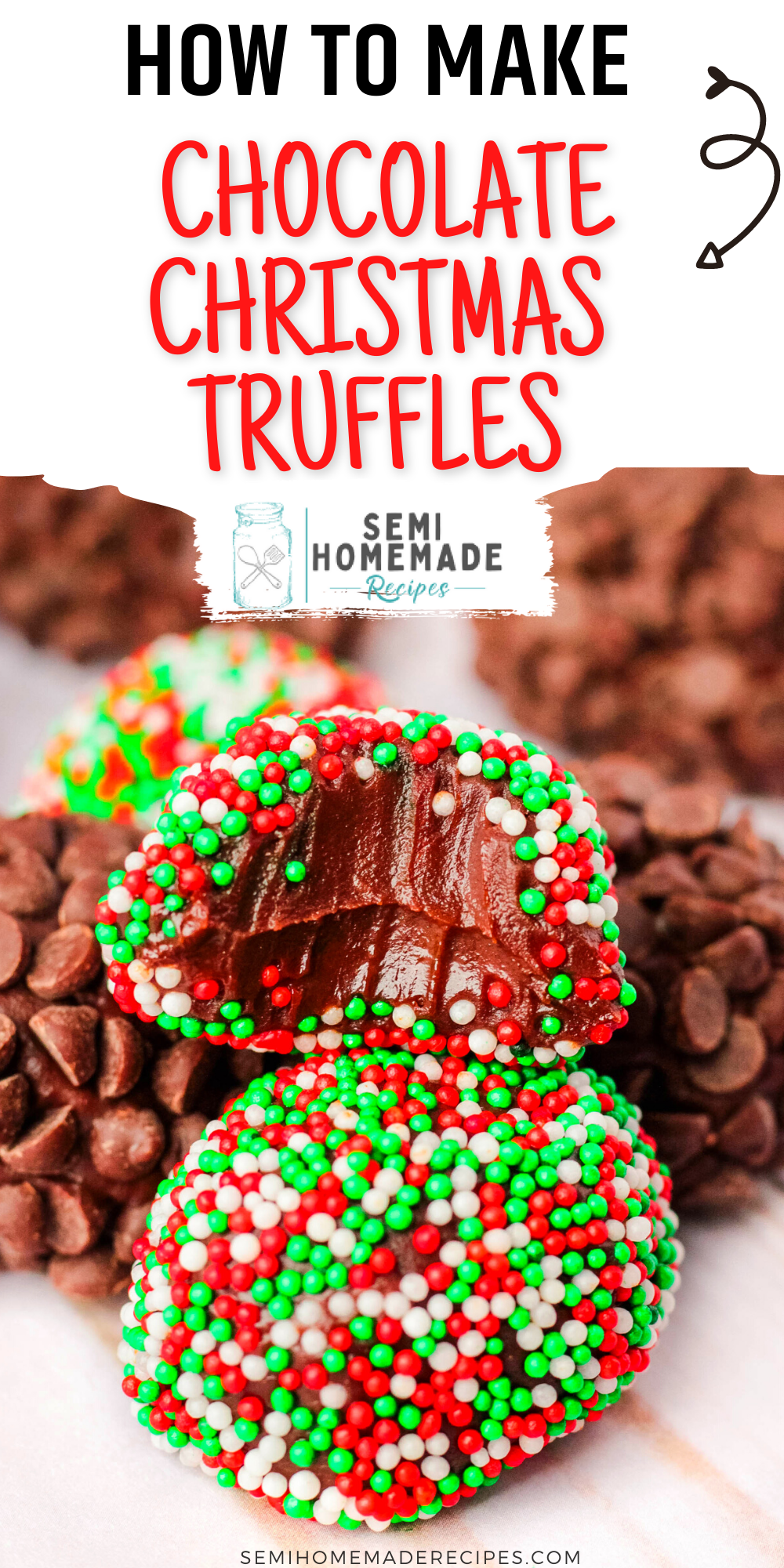 These Super Easy Chocolate Christmas Truffles are perfect for Christmas parties, Christmas eve and homemade gifts!