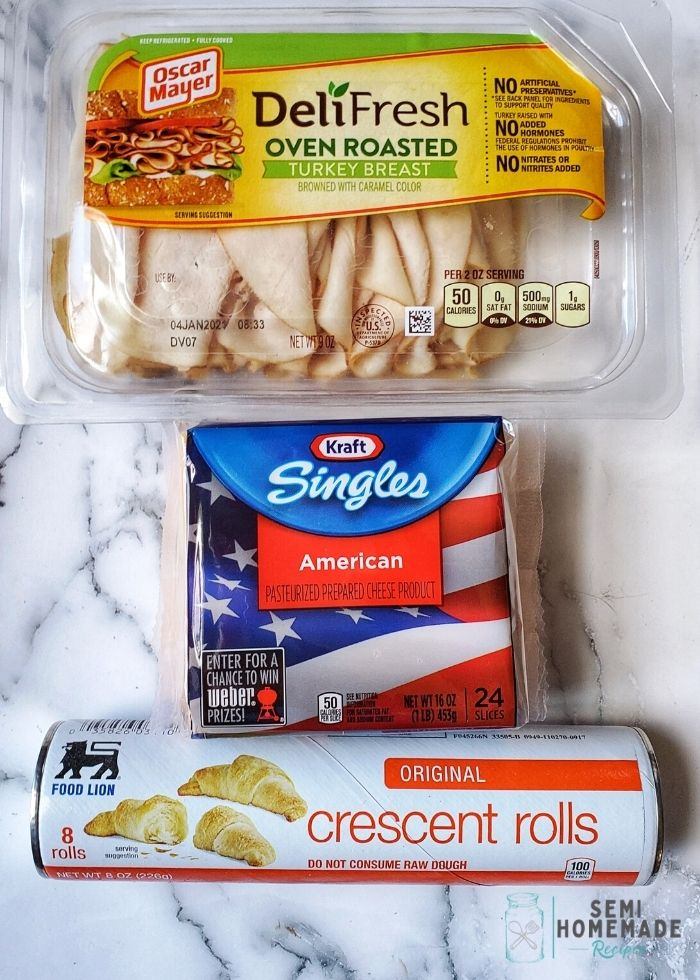 items to make turkey and cheese crescent rolls