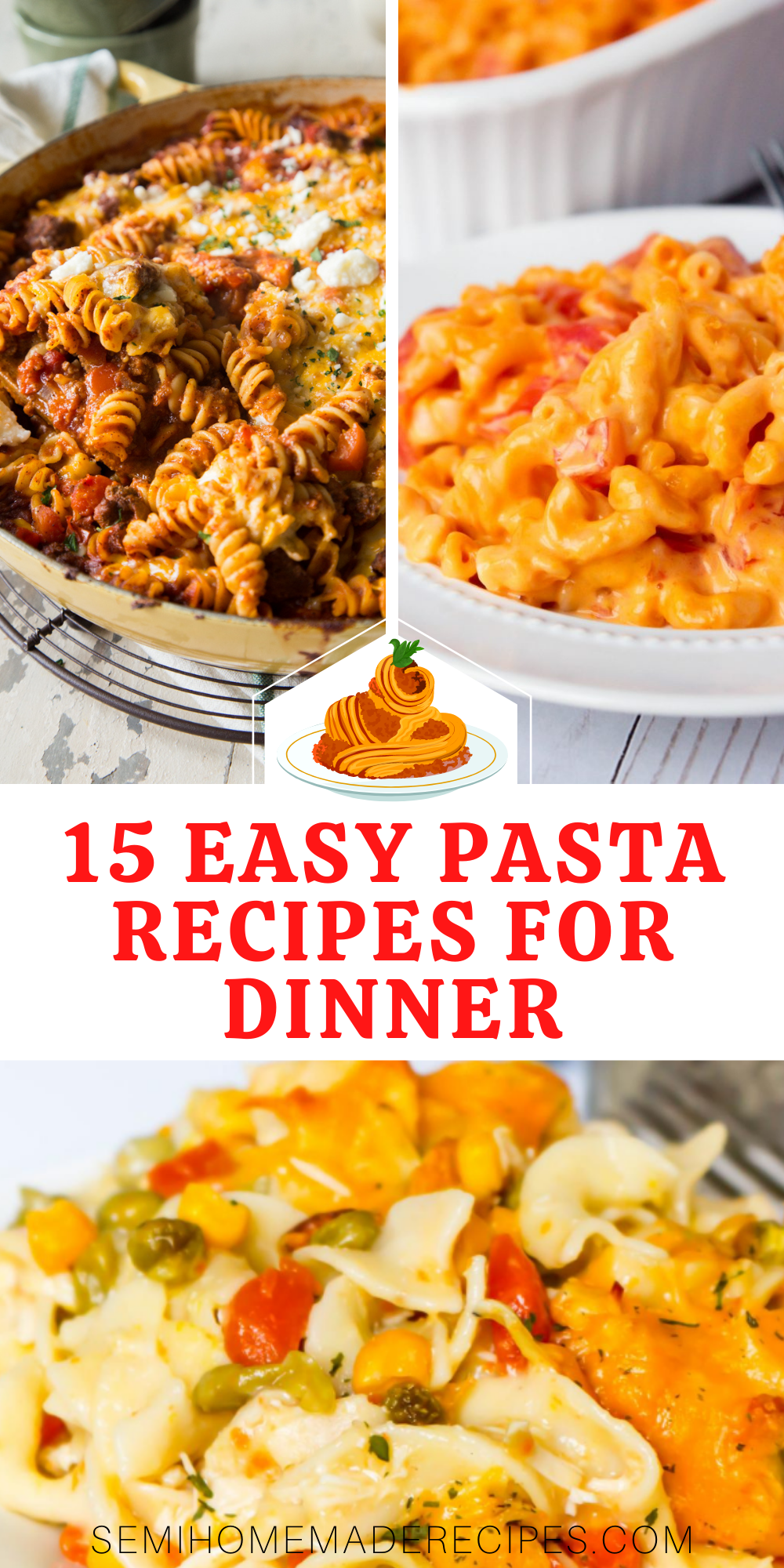 Love Pasta and need some easy dinner ideas? You've come to the right place! Here are 15 Easy Pasta Recipes for Dinner or lunch that you're going to love!