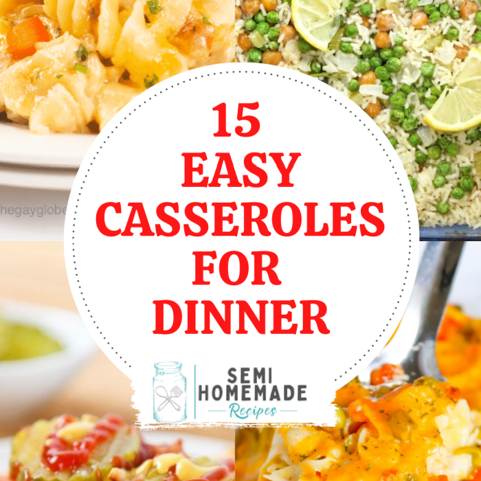 15 Easy Casseroles for Dinner - Casseroles are an easy, toss together meal that's perfect for busy weeknights and activity filled weekends! Here are 15 Easy Casseroles for Dinner or lunch that you'll want to make again and again!