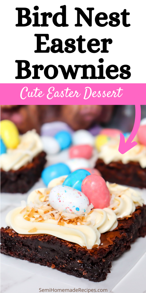 Take the a pan of simple fudge brownies, some frosting and easy decorating and transform them into these super cute Bird Nest Easter Brownies! These Bird Nest Easter Brownies are perfect for Easter Sunday or any Spring time event!