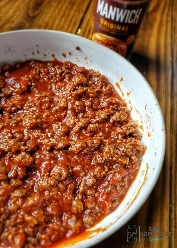 Sloppy joe mix for hot dogs