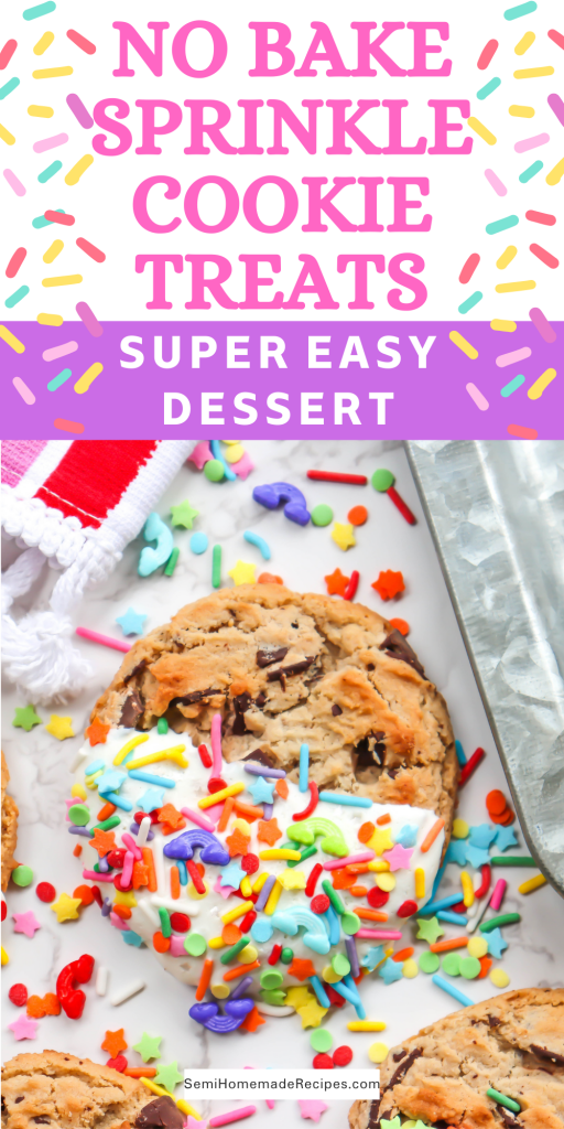 No Bake Sprinkle Cookie Treats are a great idea for birthday parties, wedding showers, baby showers and gifts! They're also ridiculously easy to make!
