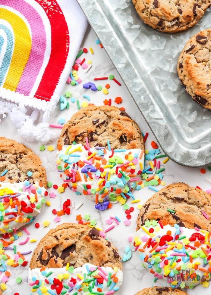 No Bake Sprinkle Cookie Treats (1)