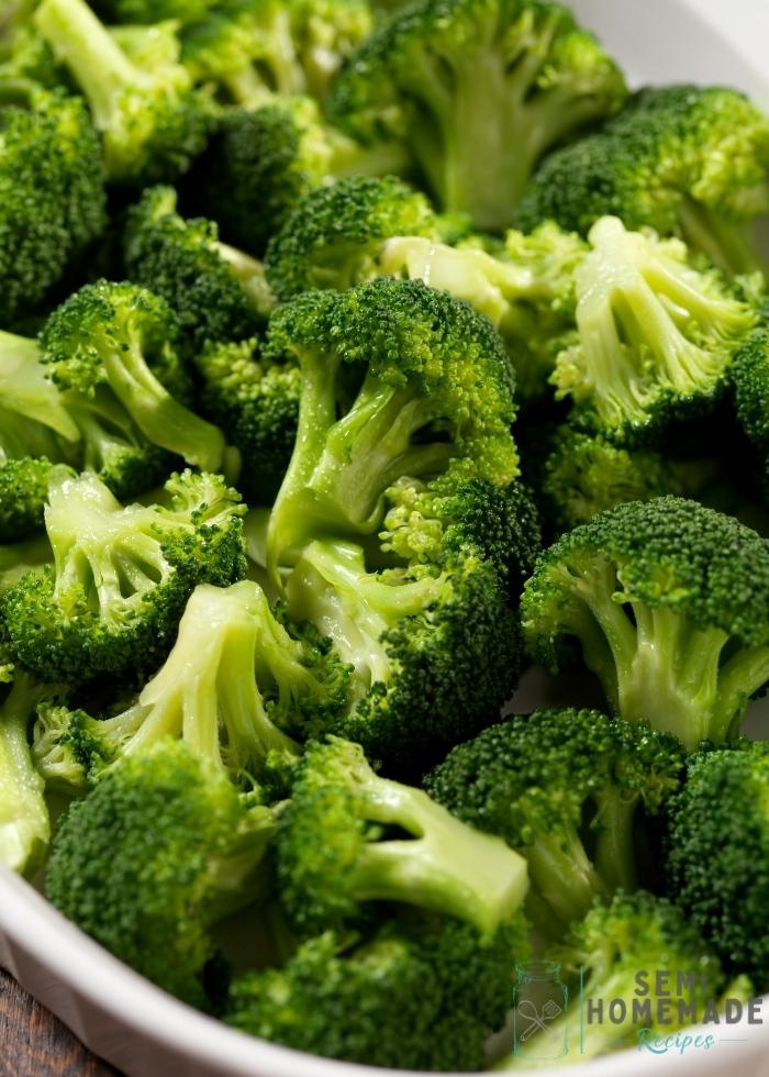 steamed broccoli