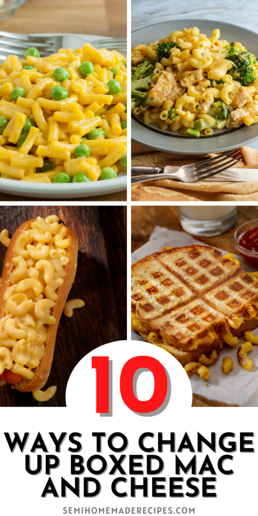 Love boxed mac and cheese but want to change it up a bit? No problem! I've got 10 10 Ways to Change Up Boxed Mac and Cheese for you, including adding ingredients to mac and cheese or adding the mac and cheese to other meals!