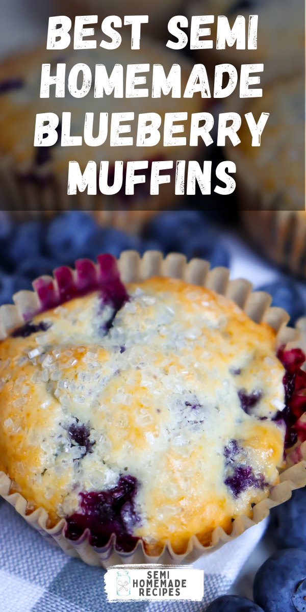 Mornings are for blueberry muffins and these amazing Best Semi Homemade Blueberry Muffins are perfect for busy mornings and great to pack for lunch!