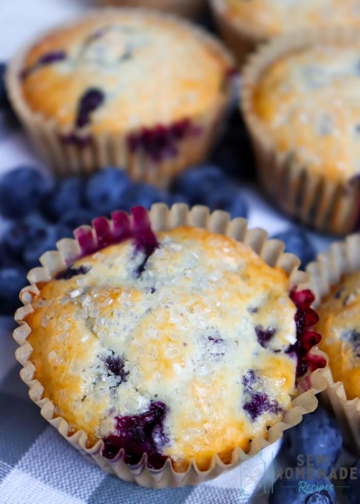 Best Semi Homemade Blueberry Muffins