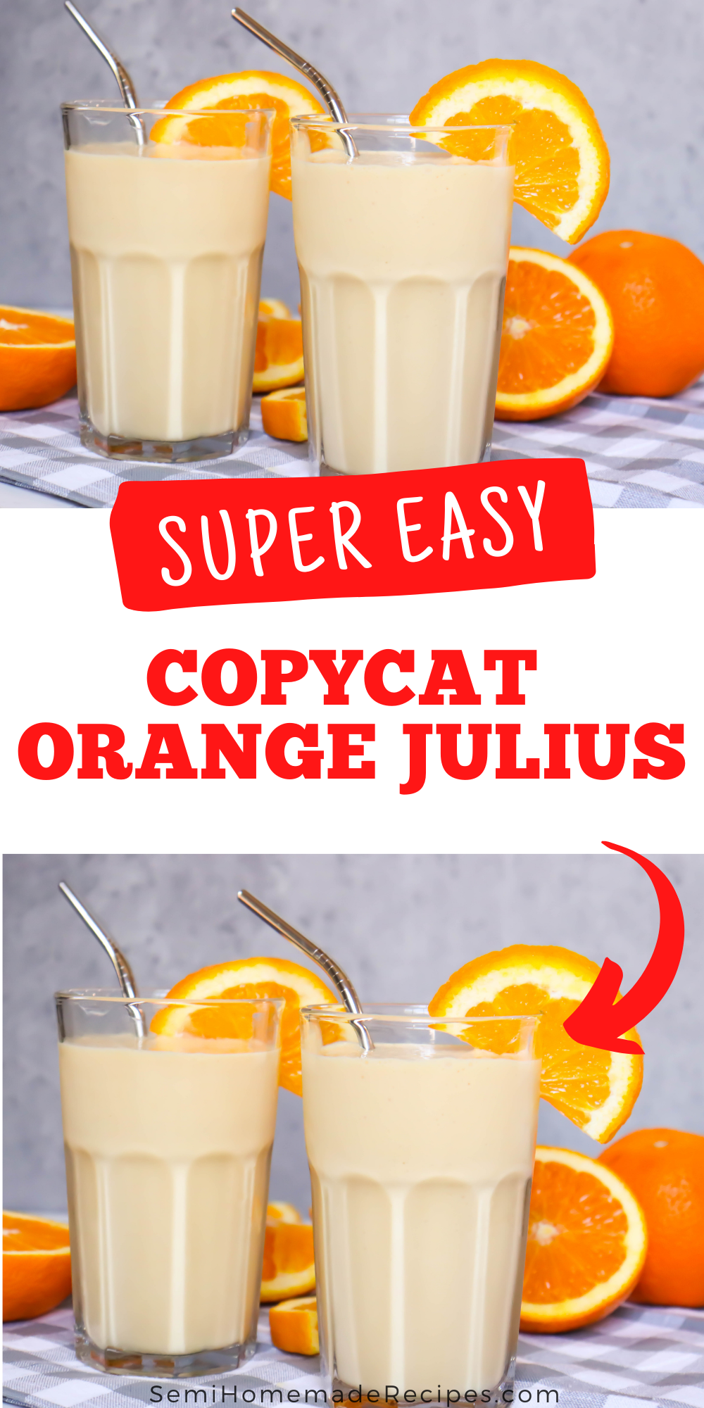 Have you ever had an Orange Julius? You've got to try this easy homemade Copycat Orange Julius recipe!