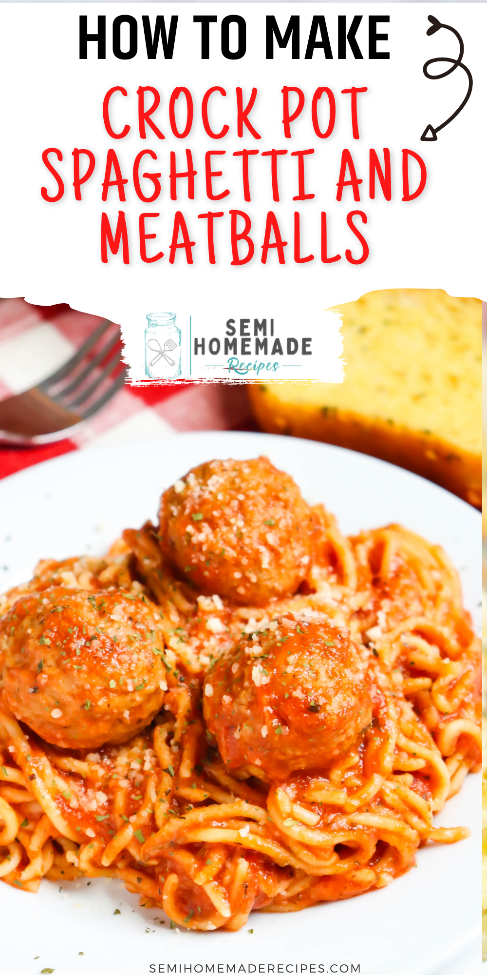 This tasty Crock Pot Spaghetti and Meatballs uses pantry and freezer items to make a fantastic meal that takes hardly any work to toss together!