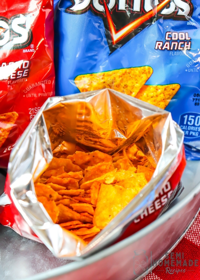 crushed Open Bag of Doritos
