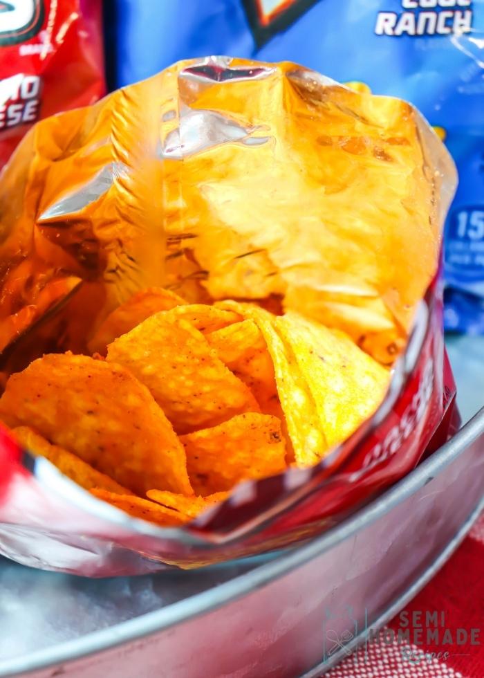 Open Bag of Doritos