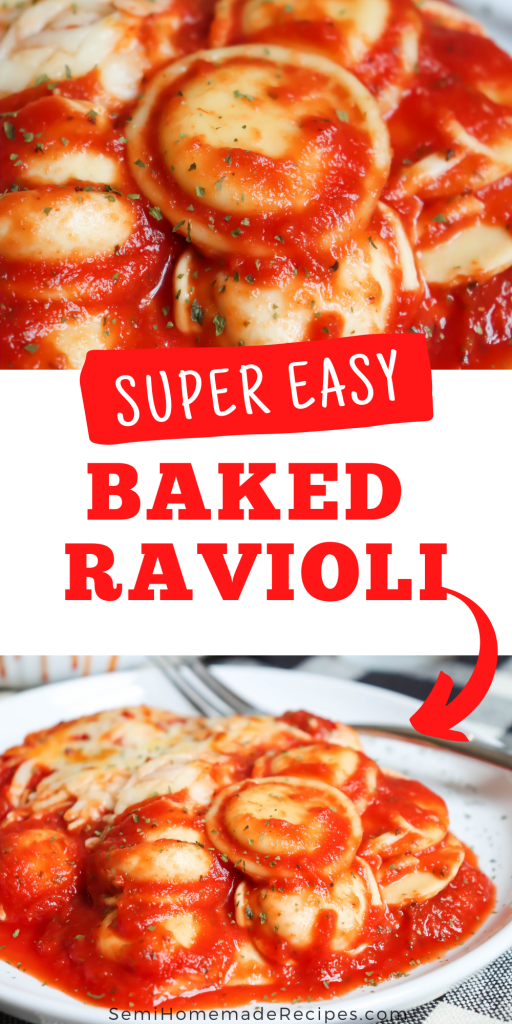 Baked Ravioli - a 4 ingredient dinner that is ready in about 45 minutes is prefect for busy weeknights and lazy weekends. You'll love how fast and simple this dinner is.