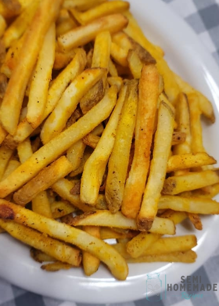 fries on white plate