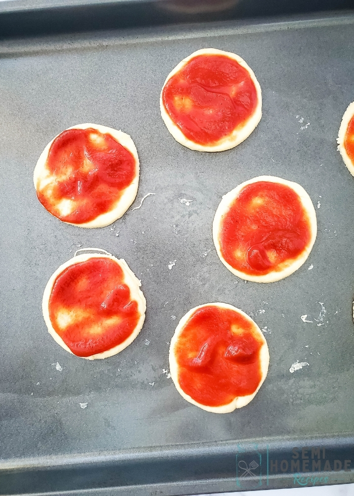 crescent dough with pizza sauce